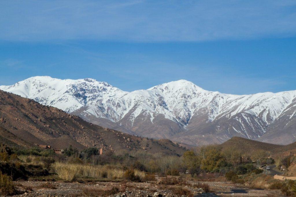 The High Atlas Mountain Range of Morocco.