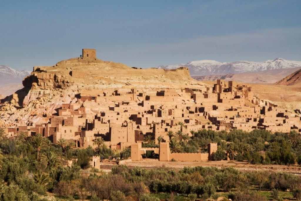 The fortified city of Ait Benhaddou can be done in a High Atlas Day trip.