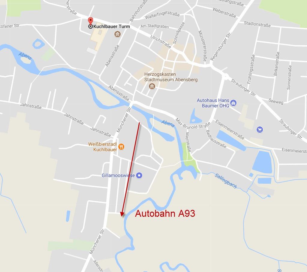 Map of Abensberg