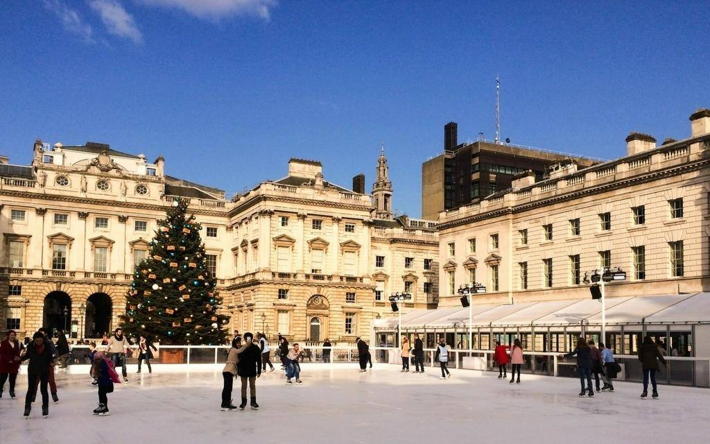 Ice-skating in London, England