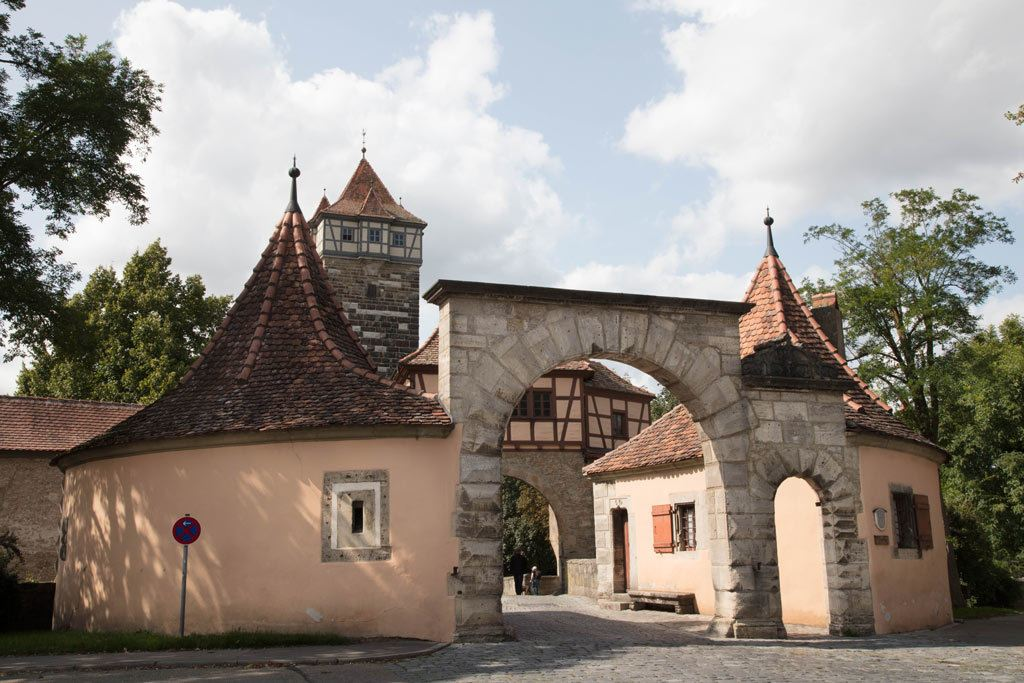 One of the many gatehouses in Rothenburg