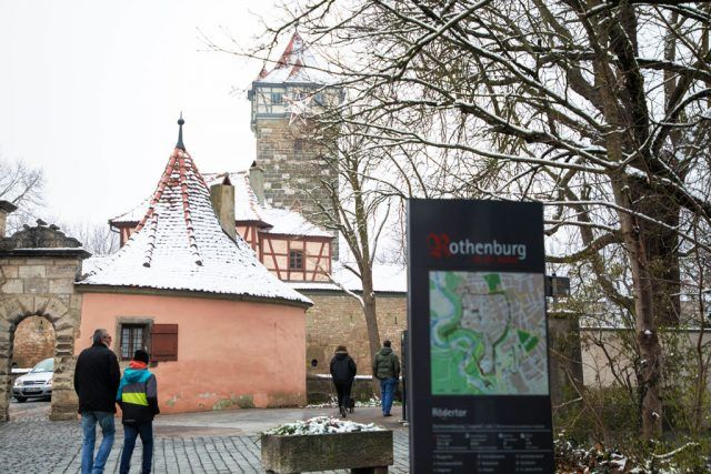 Weather in Rothenburg is frosty and cold in winter
