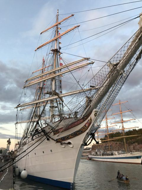 Here we are at the end of the trip. The Lehmkuhl is in port again and my sailing on a tall ship as crew is over.