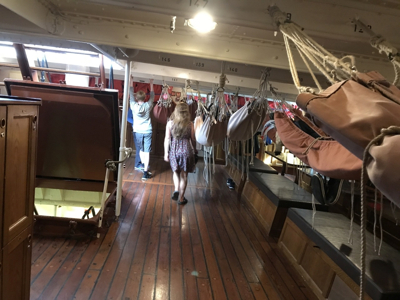 Part of the tall ship crew and sleeping area.