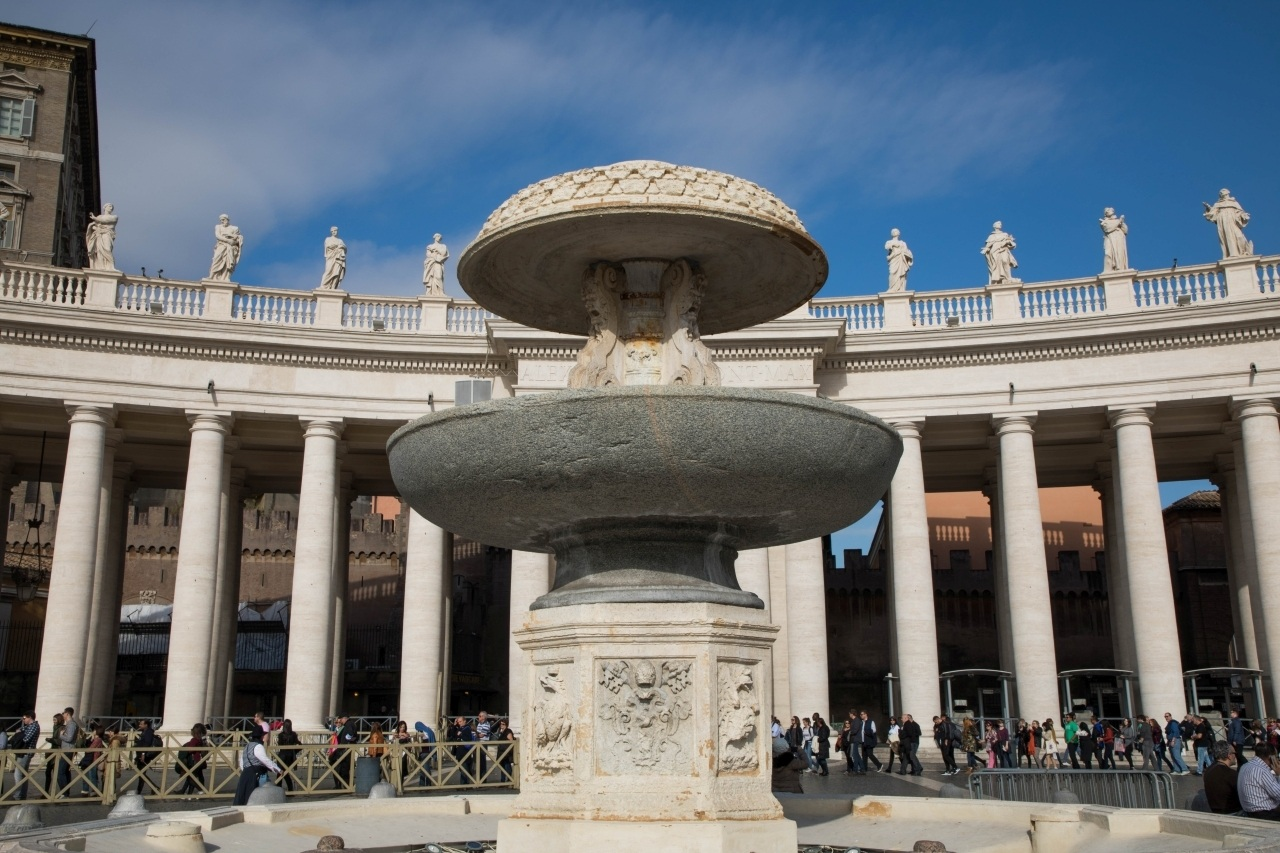 Fountain in St. Peter's Square, the Vatican City.
