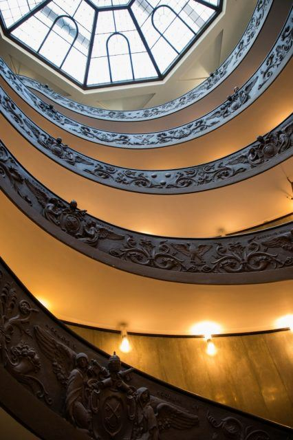 The Mimo staircase in the Vatican.