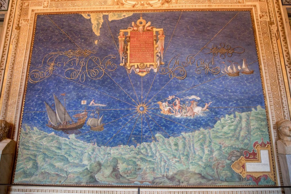 This is the map of Liguria in the Vatican City's Gallery of Maps.