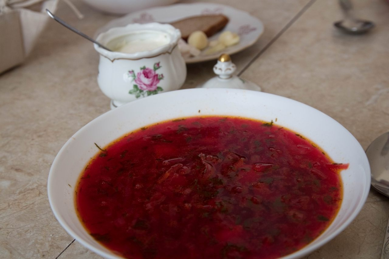 What to eat in Kiev? Borscht of course.