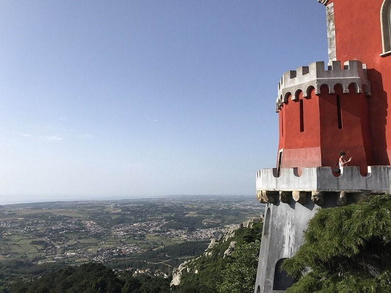 A tower of Sintra palace, Portugal.