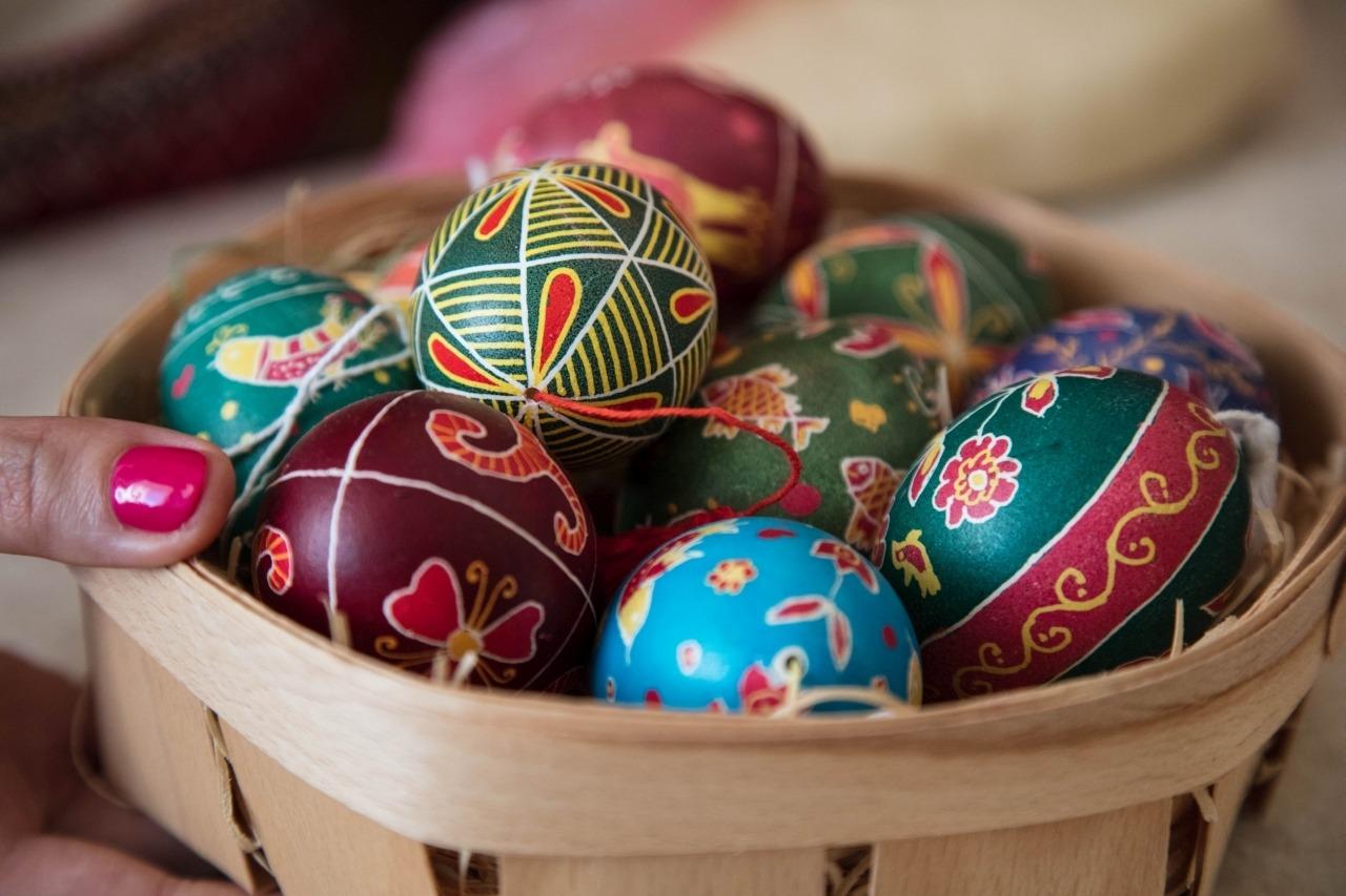Ukrainian hand-painted eggs.