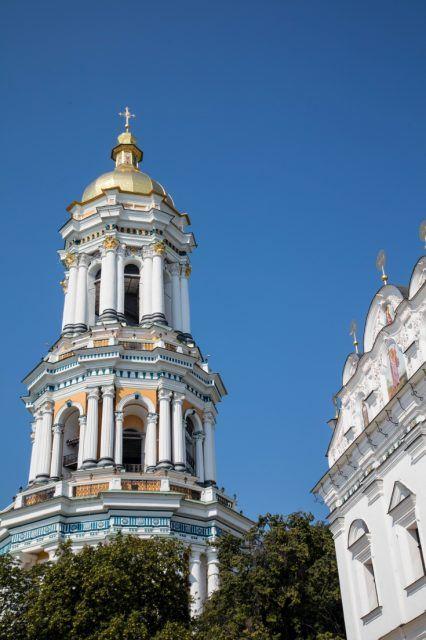 A Baroque tower in Kiev.