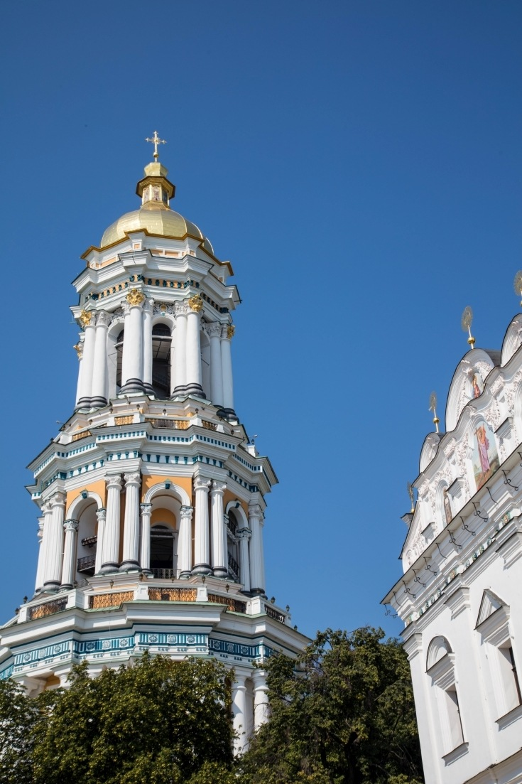 A Baroque tower in Kiev.
