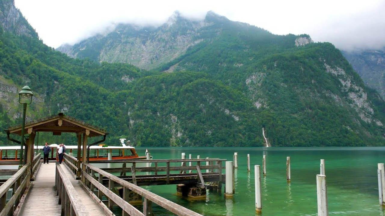 Konigsee boat dock in spring.