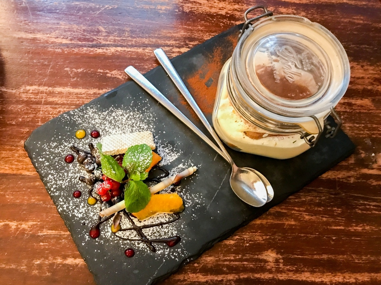 What to eat in Bolzano? There's so many awesome choices, but one thing's for sure, Tiramisu for dessert!