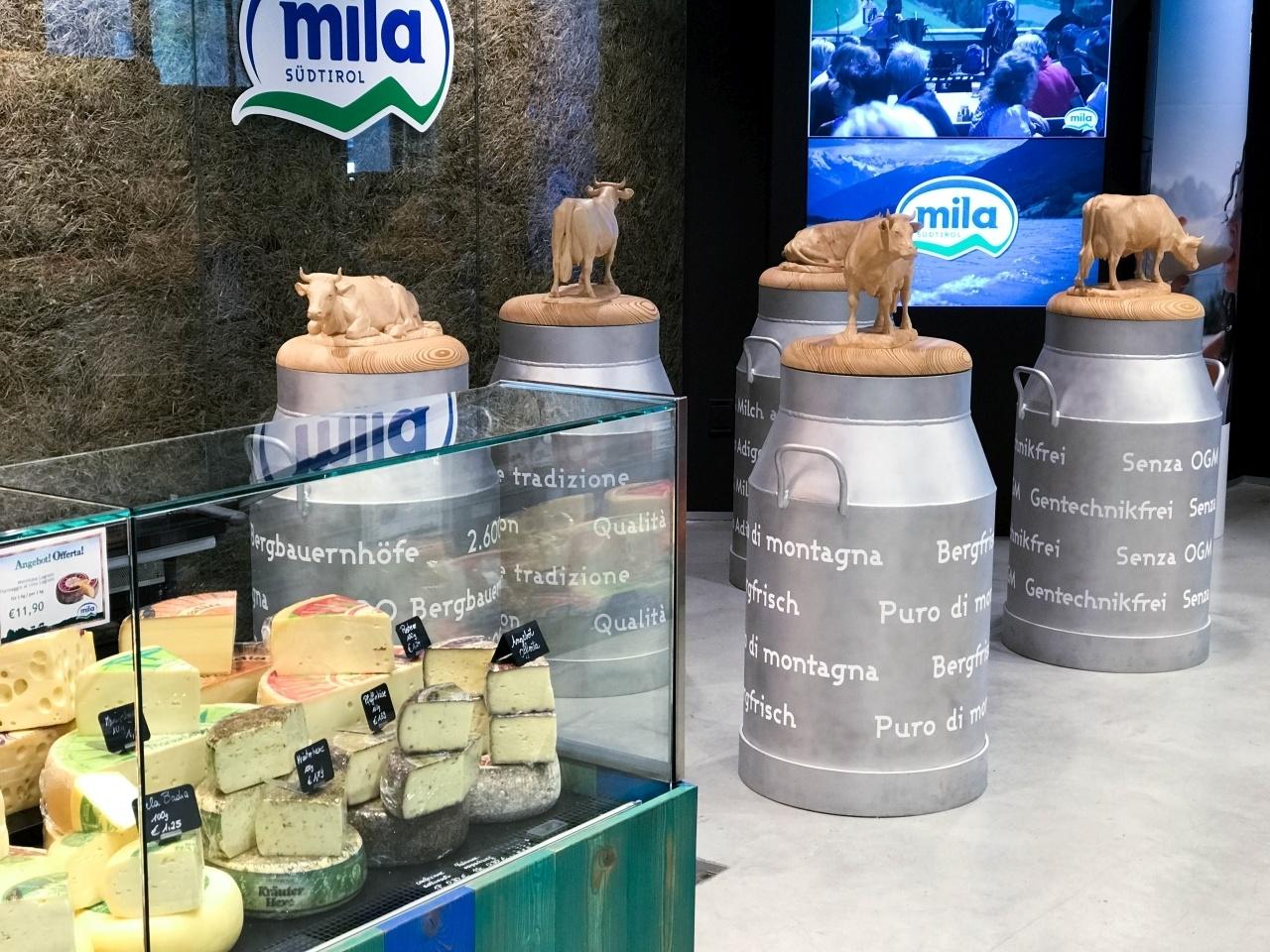 Mila dairy cooperative in Bolzano, Italy