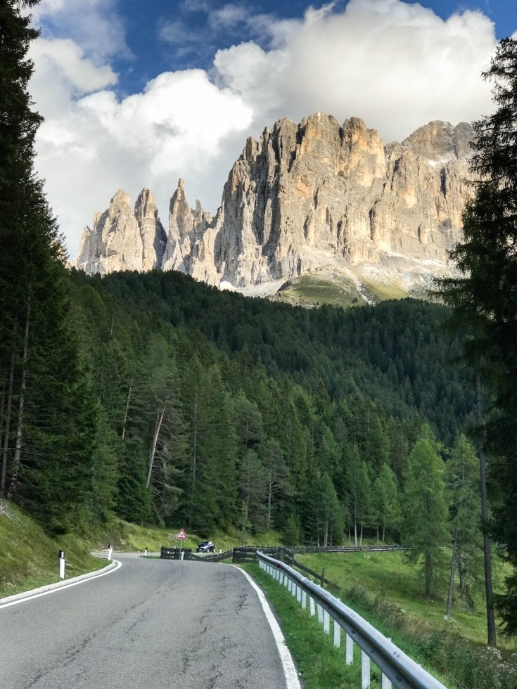 Dolomite scenic drive on one of the best dolomite roads.