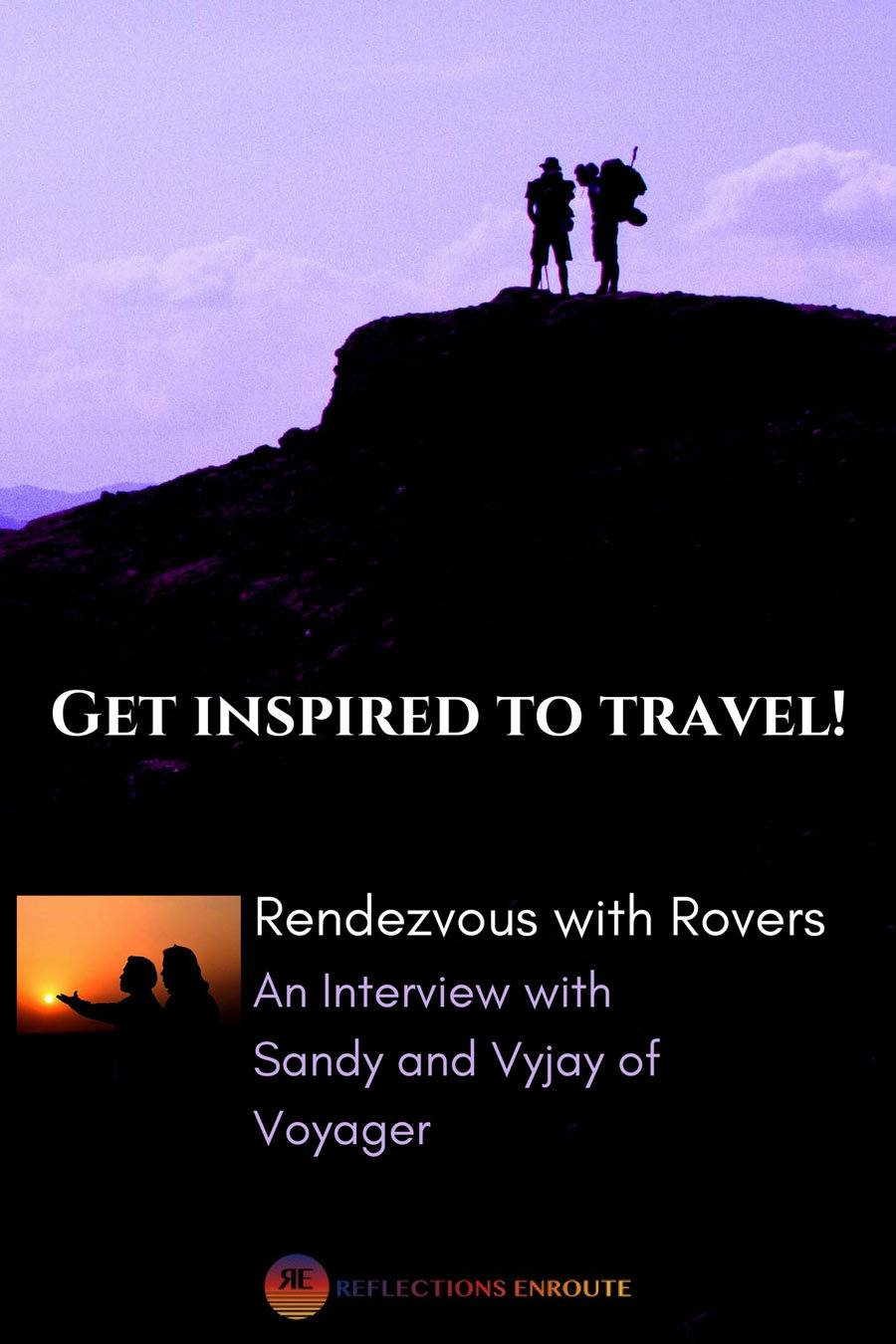 An interview with Sandy and Vyjay, top travel bloggers.