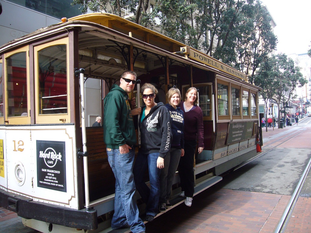 Riding a cable car to Fisherman's Wharf and back is always fun