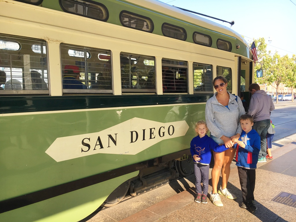 My grandkids love riding these historic San Francisco streetcars
