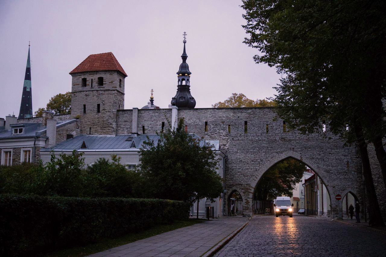 Tallinn city wall at night by ReflectionsEnroute