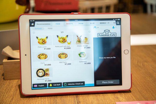 Pokemon Cafe Menu