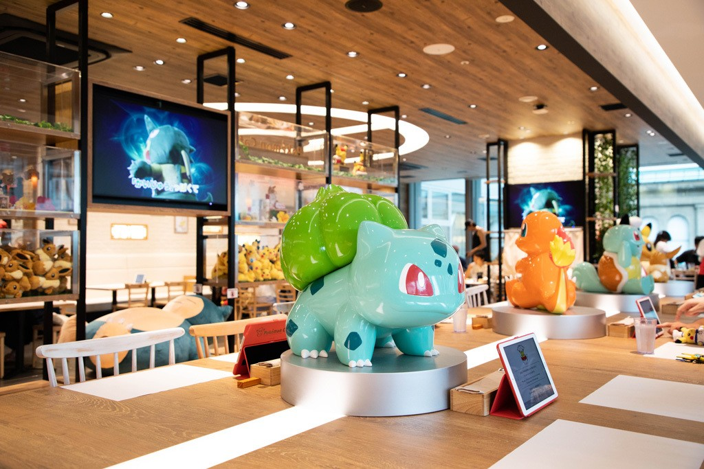 Dining room at Pokemon Cafe