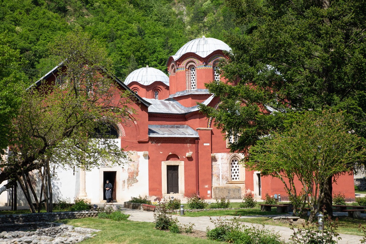 Exterior and Grounds of Patriarchate of Peć Monastery Kosovo