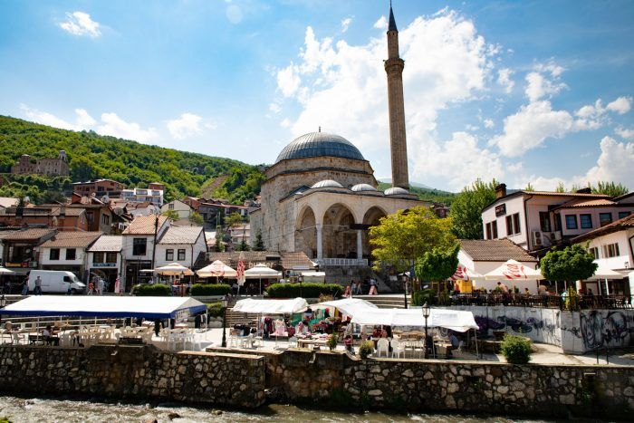 Prizren Mosque and City Landscape Kosovo