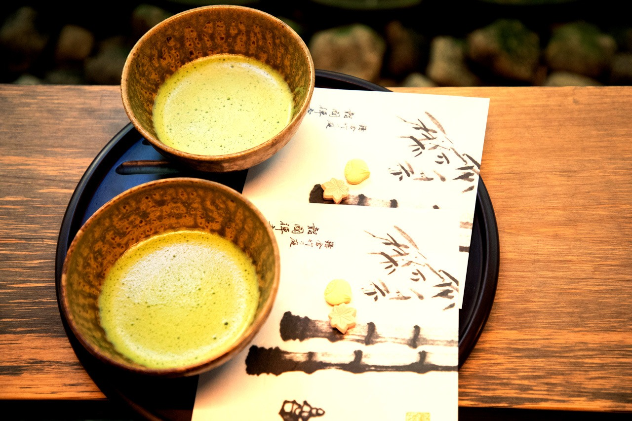 Match Tea served at Hokokuji Temple