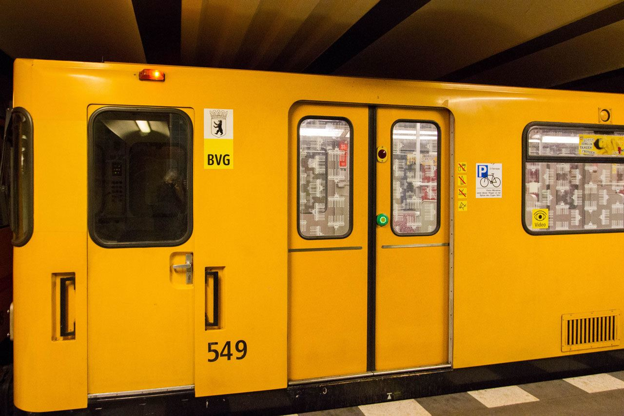 Berlin metro is reliable and is a reminder of the past!