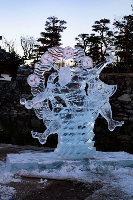 A legendary figure carved in ice