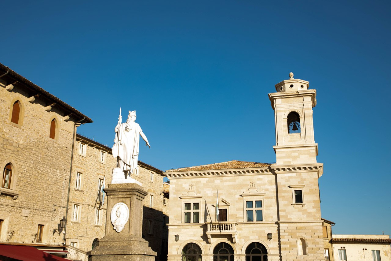 San marino tourist sight - Piazza della Liberta