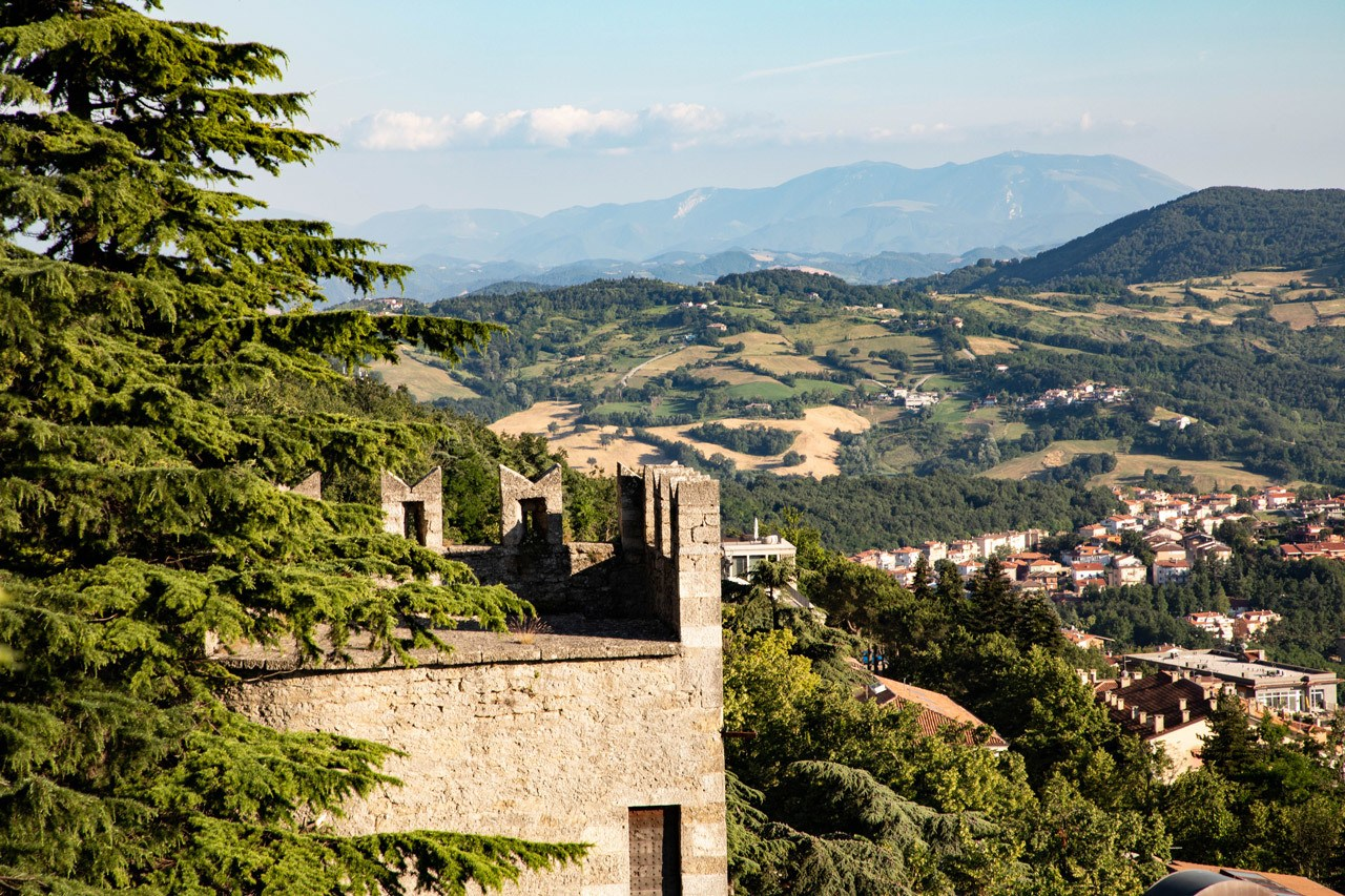 San Marino Day Trip - View From The Rocco Guaita