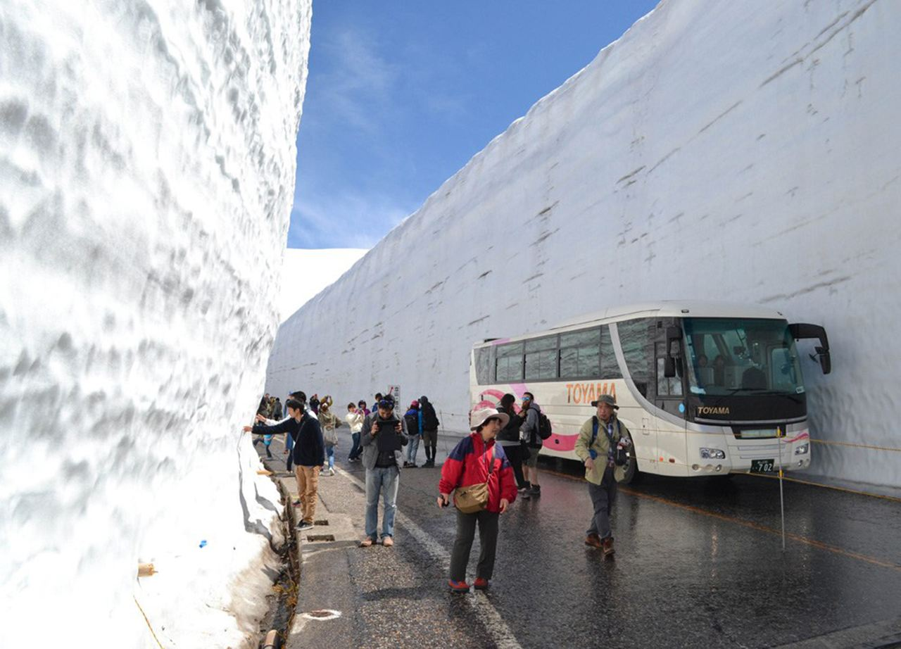 Spring in Japan opens up the Tateyama Kurobe Alpine Route and its famous snow wall.