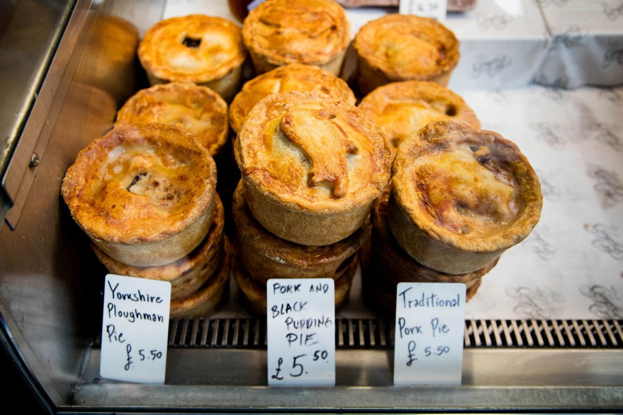 British Food meat pies at the Ginger Pig