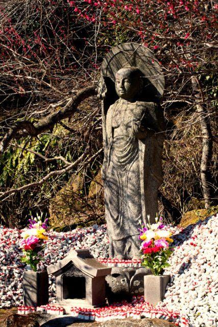 Jizo Statue near the Daibutsu of Mt. Nokogiri