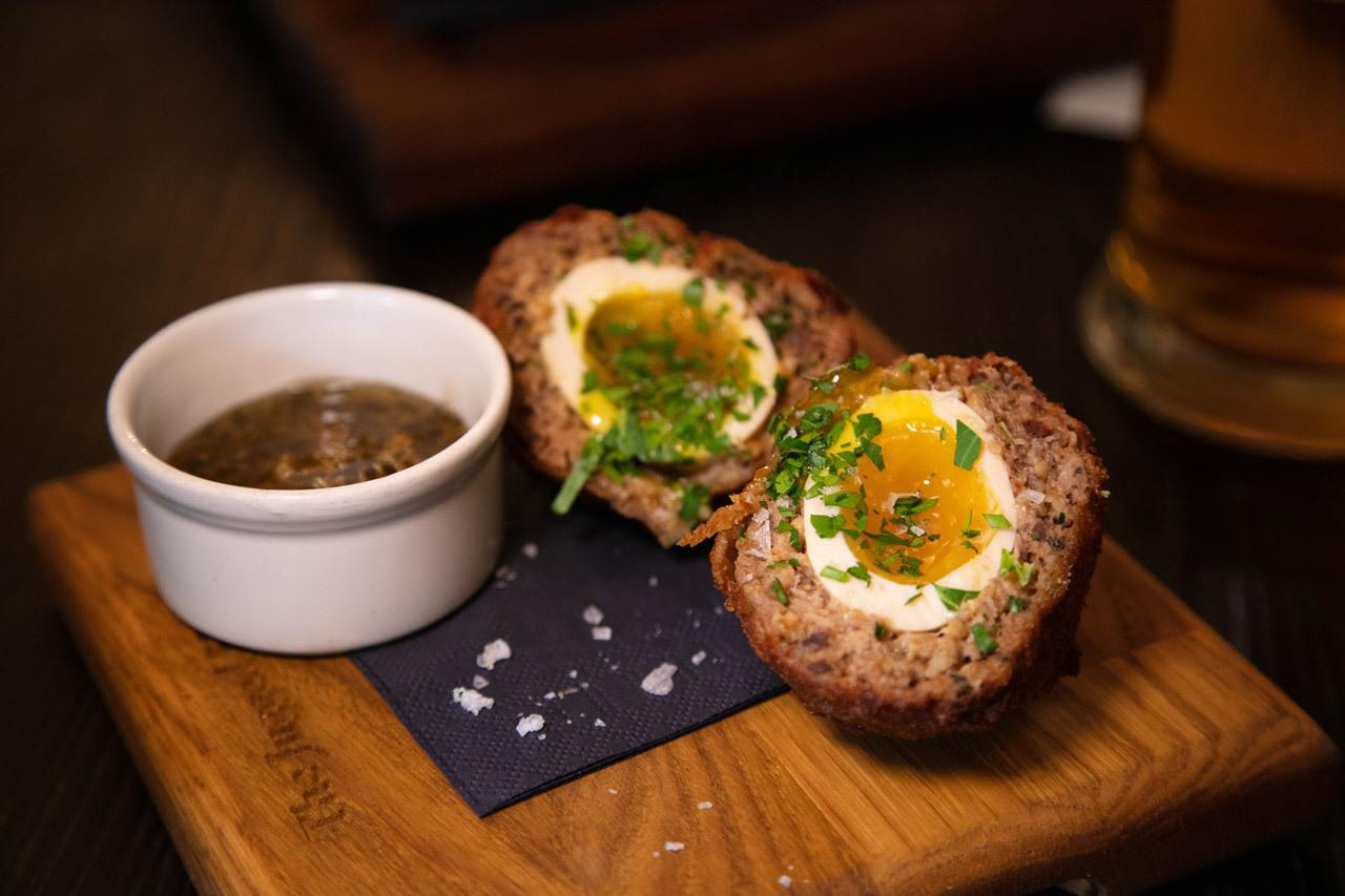 Best London English Food - Scotch Egg at the Jugged Hare