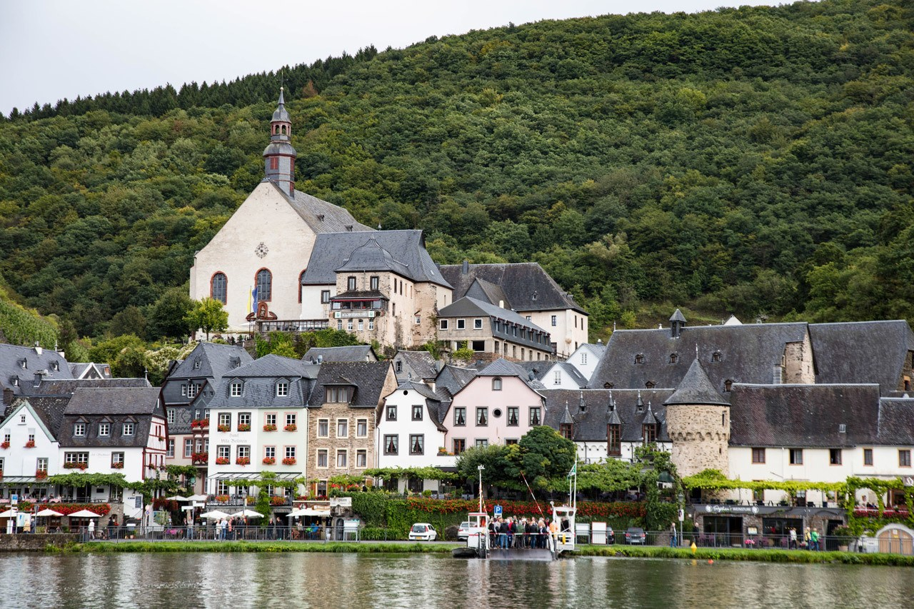 Town along the Mosel River Cruise