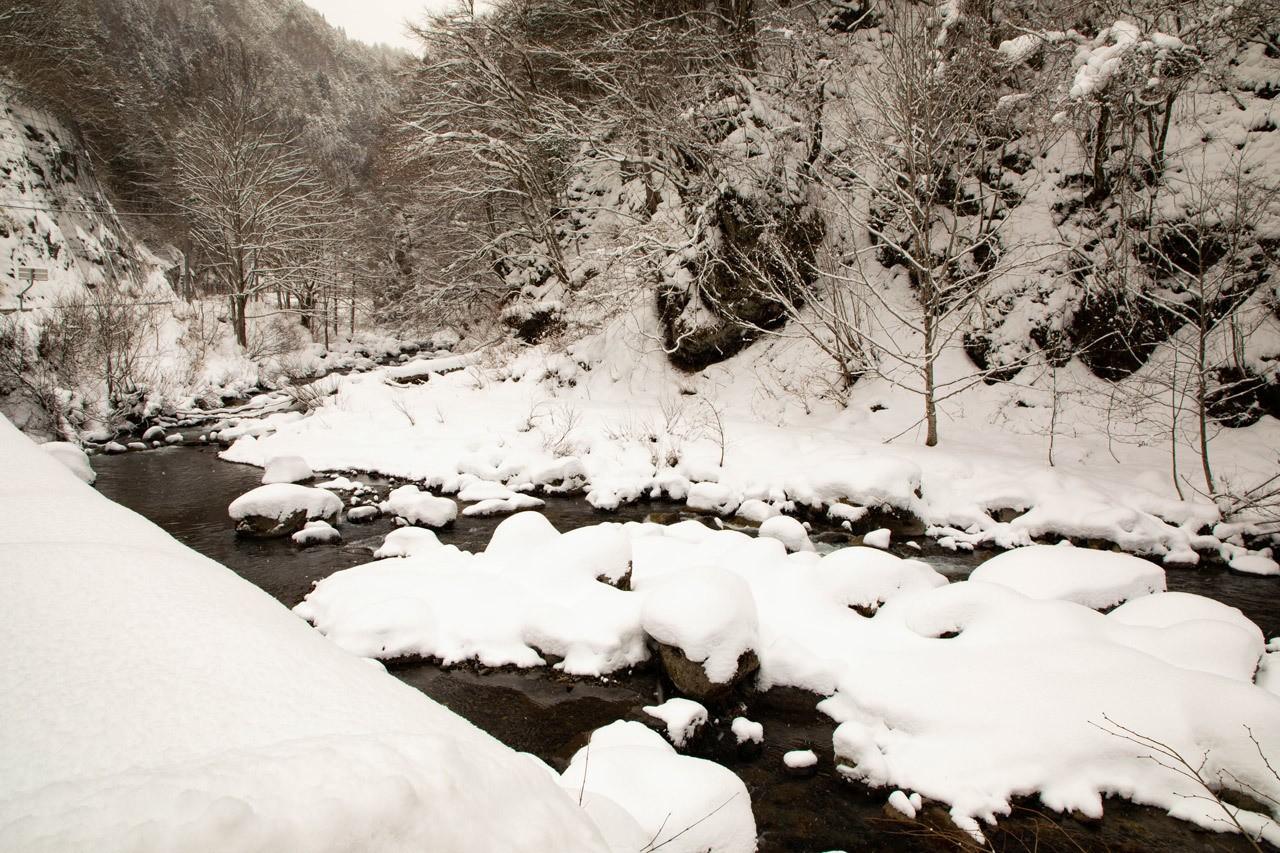 Shiro River in winter