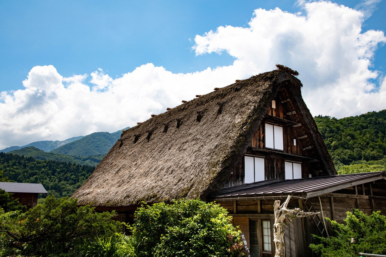 This traditional thatched roof is a prime example of why Shirakawago is a UNESCO world heritage site.
