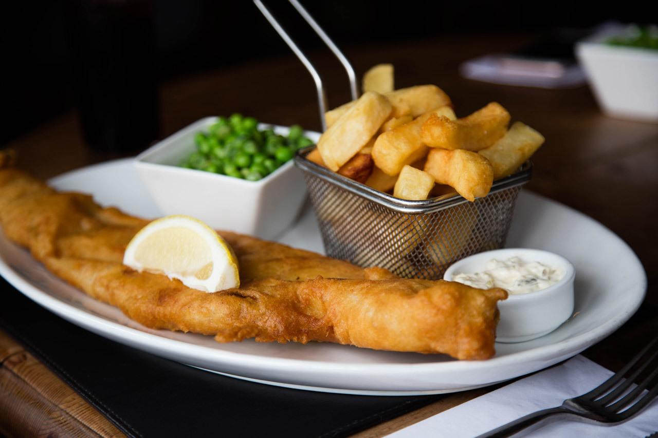 Traditional British Food - Pub Food is Fish and Chips