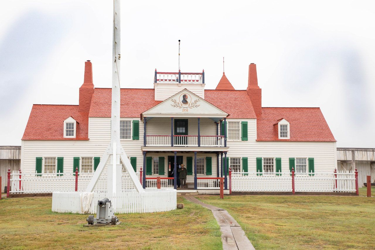 The main building of the Fort Union Trading Post near Williston ND.