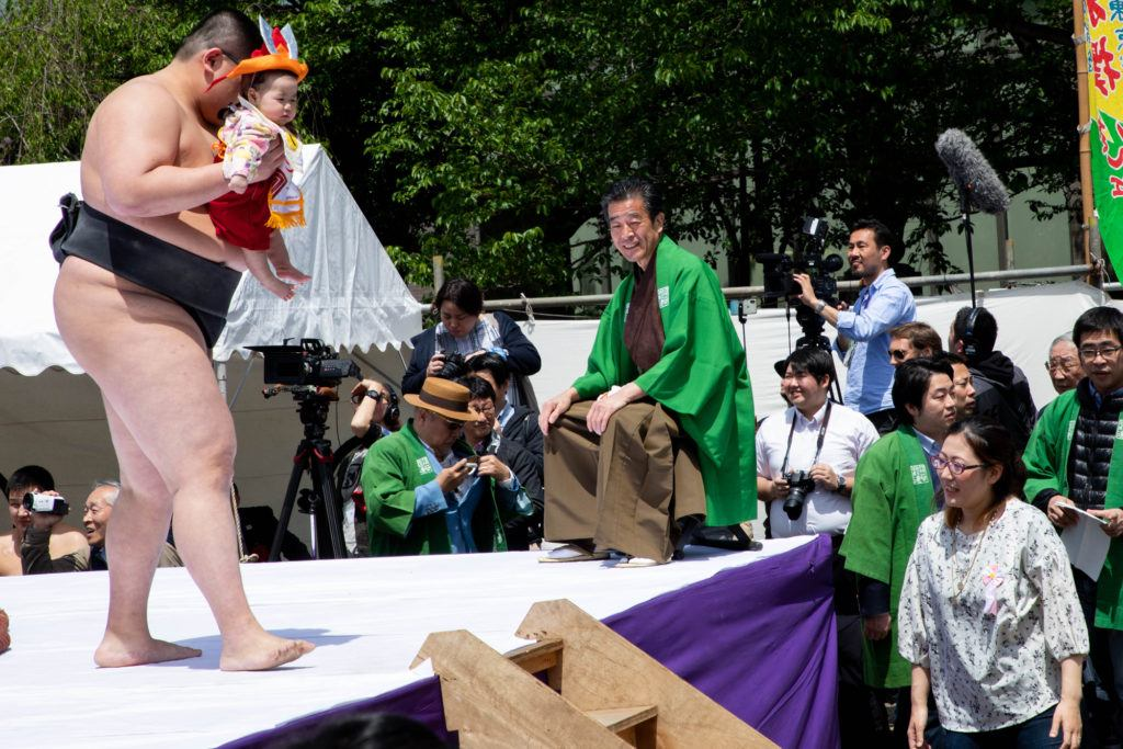 Nakizuno, or baby cry festival, is colorful and adorable.