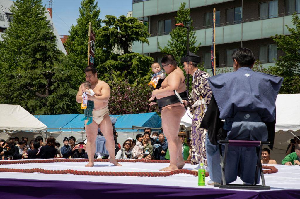 Babies and sumo wrestlers in Tokyo, too cute!