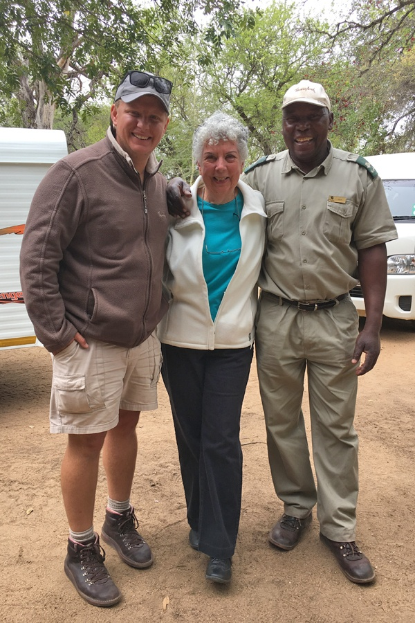 Photo op with the Thornybush Game Lodge Ranger/Guide and the Tracker.