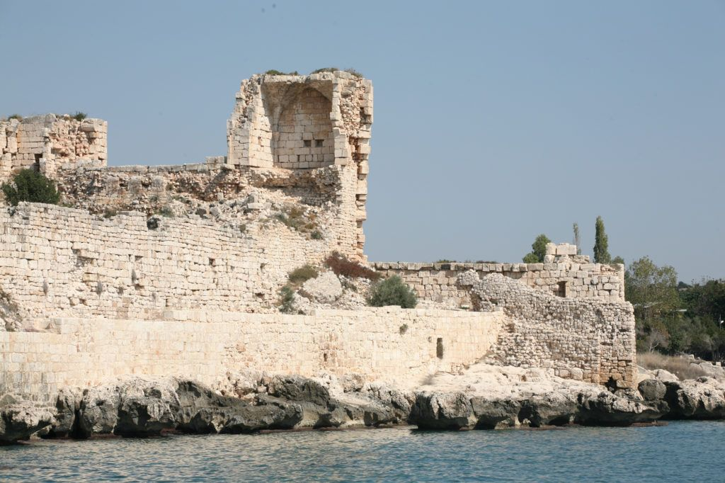 Korikos Castle from the water.