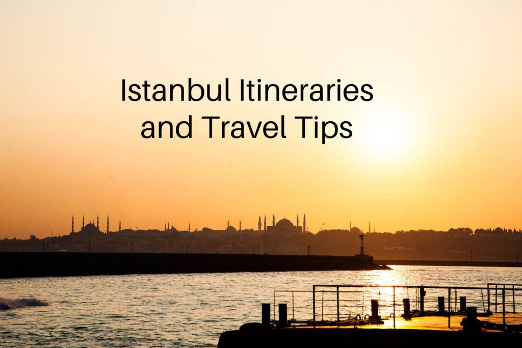 Sunset skyline of Istanbul.