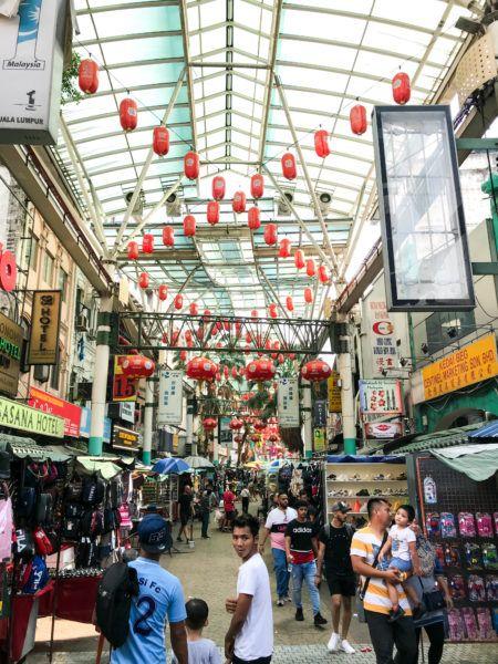 Педалинг-стрит или китайский квартал в КЛ. Куала-Лумпур Куала-Лумпур Chinatown KL 1 450x600