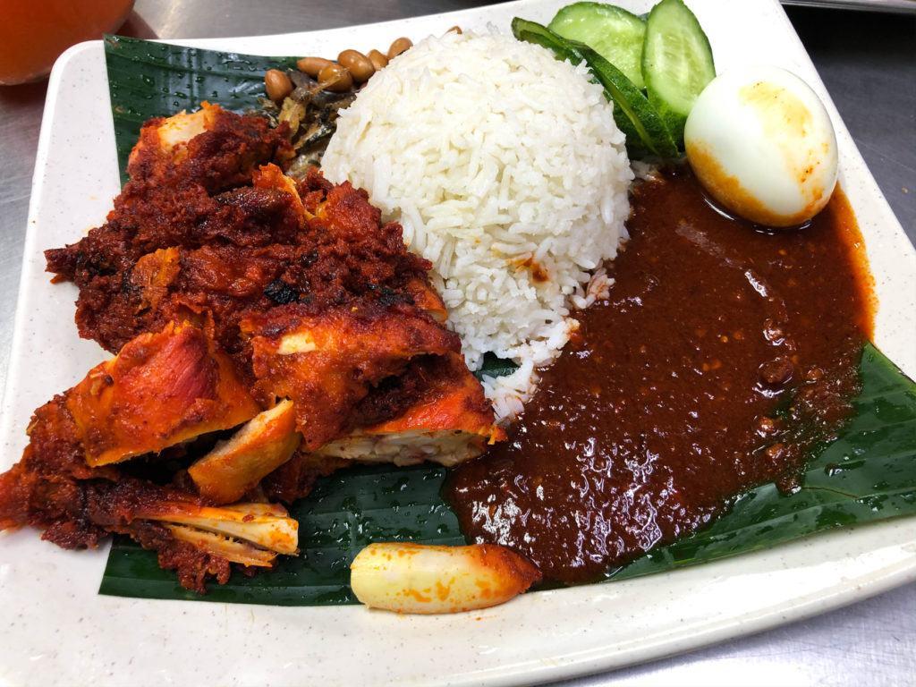 Наси Аям, типичное малазийское блюдо. Куала-Лумпур