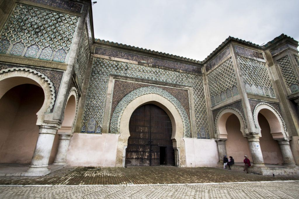 Bab al-Mansour, the main gate at Meknes, Morocco.